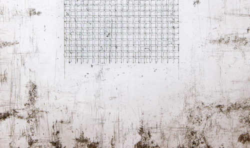 """the Work (detail), 2014, etching, 15""""x11"""" - Edition of 28"""