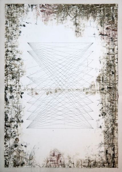 Verge and Ladder, 2014, Etching, Edition of 30 by Jaz Graf