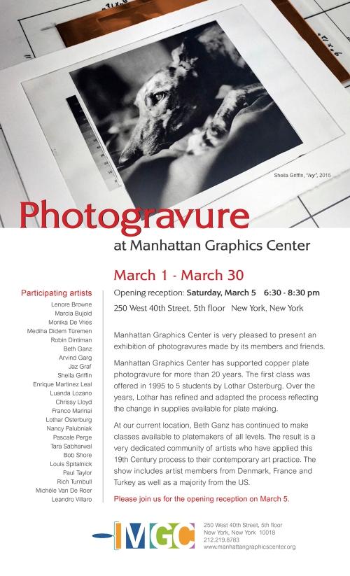 Photogravure at MGC